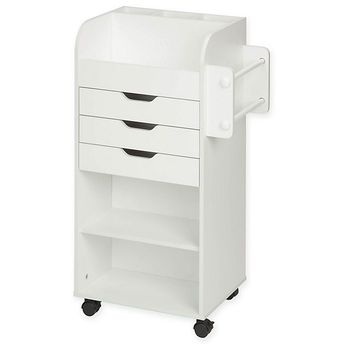 Alternate image 1 for Honey-Can-Do® Craft Storage Cart in White