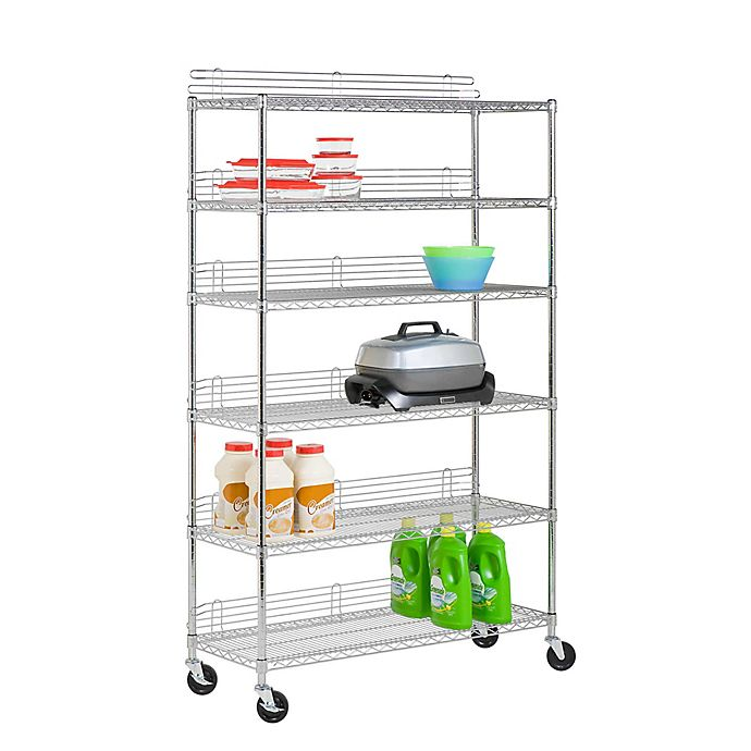 Alternate image 1 for Honey-Can-Do 6-Tier Urban Shelving Unit in Chrome