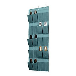 Simplify 20-Pocket Over-the-Door Shoe Organizer in Dusty Blue