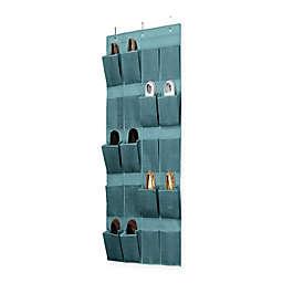 Simplify 20-Pocket Over-the-Door Shoe Organizer in Dusty Blue