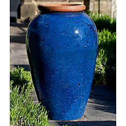Campania Binjai Jar in Rustic Blue