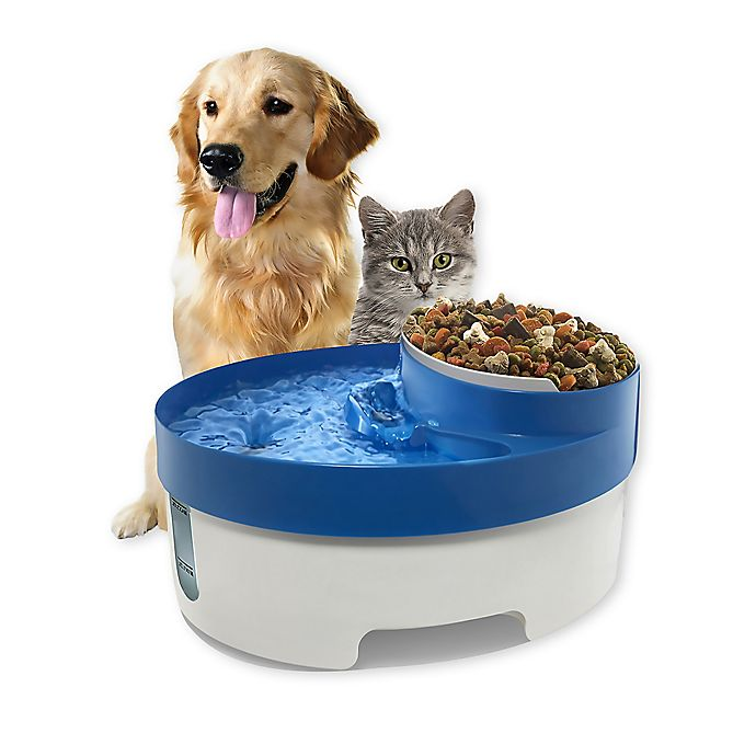 Alternate image 1 for OxGord® 3-in-1 Pet Water Fountain in Blue/White