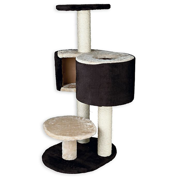 Alternate image 1 for TRIXIE Pet Products Elvio Extra-Large Cat Tree in Brown/Beige