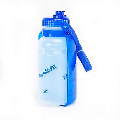 PortablePET® 2-Pack Portable Foldable Pet Water Dispenser in Blue/White