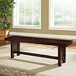 Forest Gate Traditional Wood Dining Bench in Cappuccino