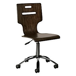 Stone & Leigh™ Chelsea Square Desk Chair in Dark Brown