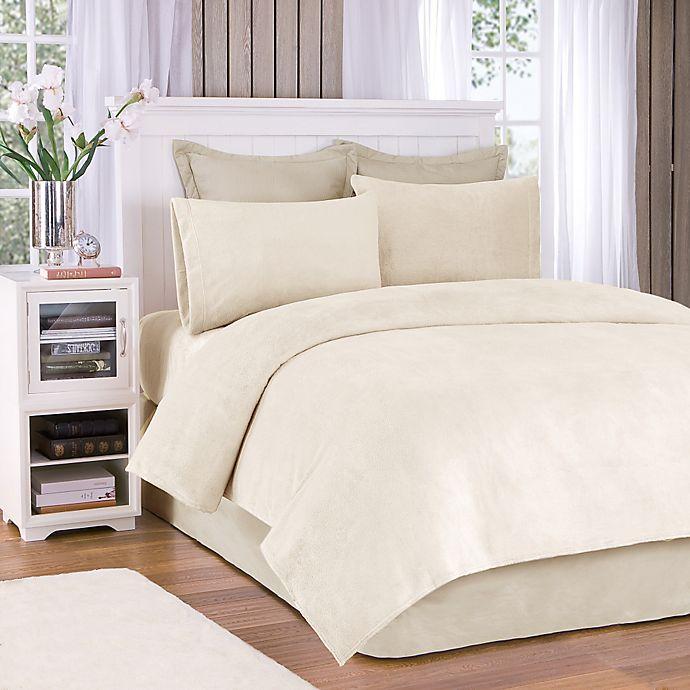 Alternate image 1 for True North by Sleep Philosophy Soloft Plush Full in Sheet Set in Cream