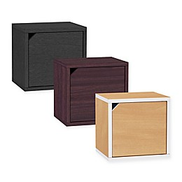 Way Basics Tool-Free Assembly zBoard paperboard Connect Storage Cube with Door
