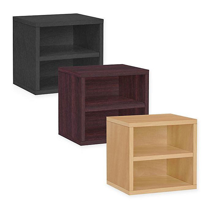 Alternate image 1 for Way Basics Tool-Free Assembly Stackable Connect Shelf Storage Cube