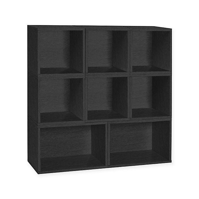 Alternate image 1 for Way Basics Tool-Free Assembly Milan Modular Storage Blox Bookcase and Storage Shelf