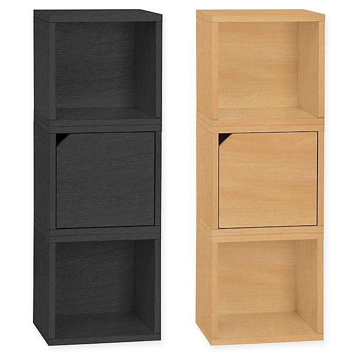 Alternate image 1 for Way Basics Tool-Free Assembly Verona Modular Storage Blox Bookcase and Storage Shelf