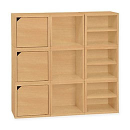 Way Basics Tool-Free Assembly Stackable 9 Connect Storage Cubes
