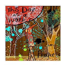"Greenbox Art Linda Ketelhut 28-Inch x 28-Inch ""Work in Progress"" Wheatpaste Poster"