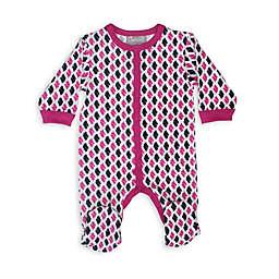 Coccoli Foulard & Tweed Footie in Pink