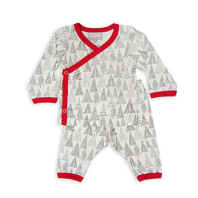Coccoli Cranberry & Almond Take Me Home Trees PJs in Grey