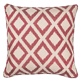 KAS Diamonds Square Throw Pillow in Red