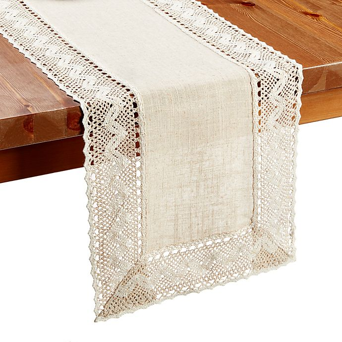 Alternate image 1 for Pebble Lace 36-Inch Table Runner