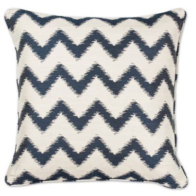 KAS Chevron 18 Inch Square Throw Pillow