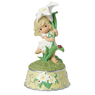 """Precious Moments® """"Girl With Lily Flower"""" Music Box"""
