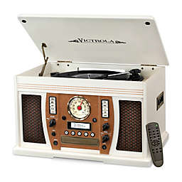 Victrola™  Wood 7-in-1 Nostalgic Bluetooth Record Player with CD Encoding and 3-speed Turntable