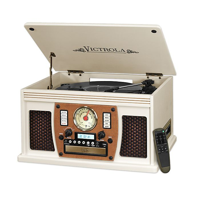 Alternate image 1 for Victrola™ Nostalgic Classic 8-In-1 Bluetooth® Turntable in White