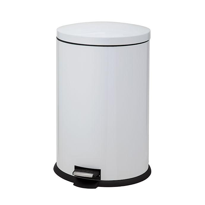 Alternate image 1 for SALT™ 40-Liter Oval Pedal Trash Bin in White