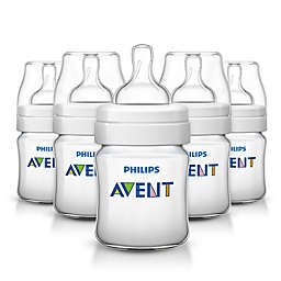 Philips Avent 4 oz. Anti-Colic 5-Pack Bottles in Clear
