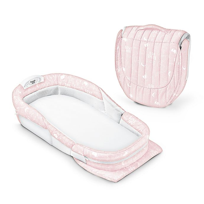 Alternate image 1 for Baby Delight® Snuggle Nest® Surround Portable Infant Sleeper in Pink Baby Love