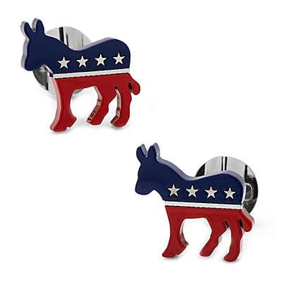 Ox & Bull Trading Co. Stainless Steel Democratic Donkey Cufflinks