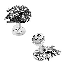 Star Wars™ Millennium Falcon 3D Cufflinks in Silver