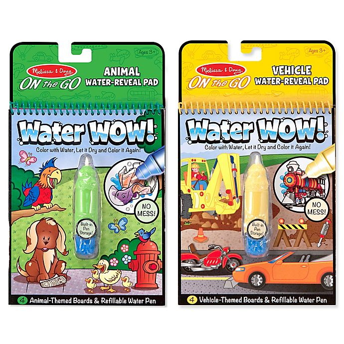 Alternate image 1 for Melissa and Doug® Vehicles and Animals Water Wow Bundle