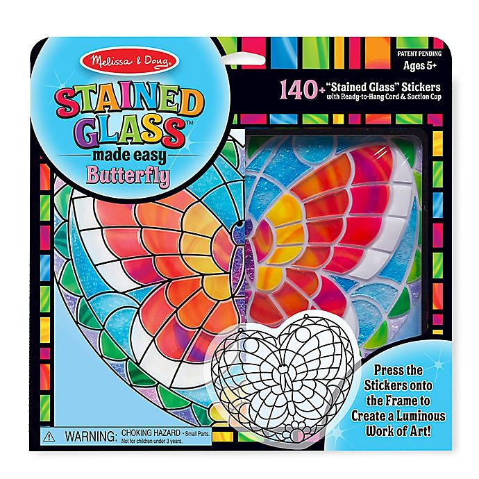Alternate image 1 for Melissa and Doug® Butterfly Stained Glass
