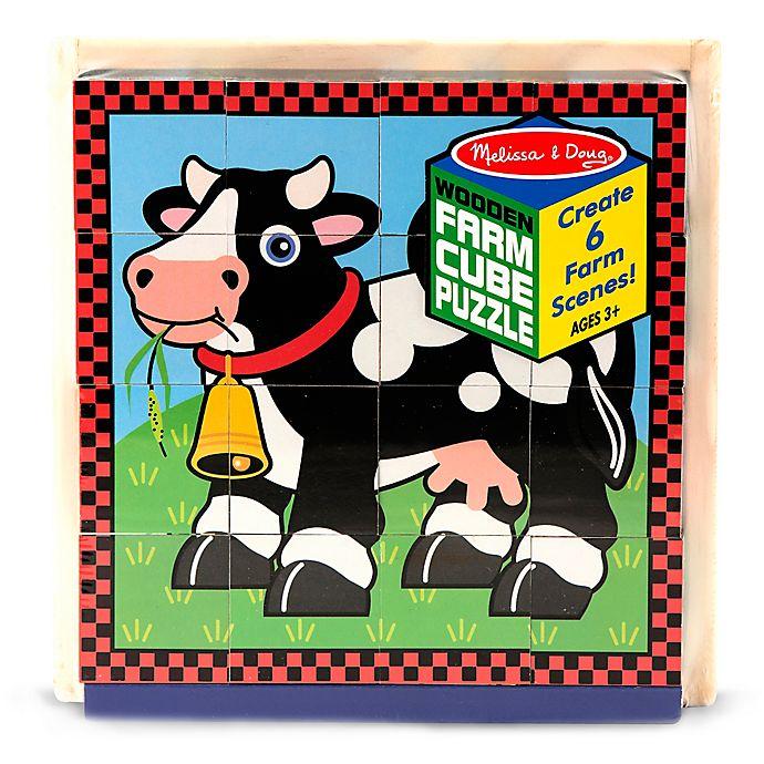 Alternate image 1 for Melissa & Doug® Wooden Farm Cube Puzzle