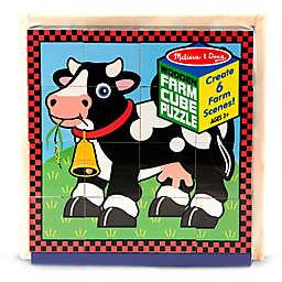 Melissa & Doug® Wooden Farm Cube Puzzle