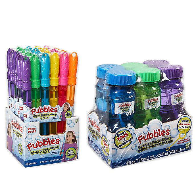 Alternate image 1 for Little Kids® Fubbles™ 6-Pack 4 oz. Bubble Solution