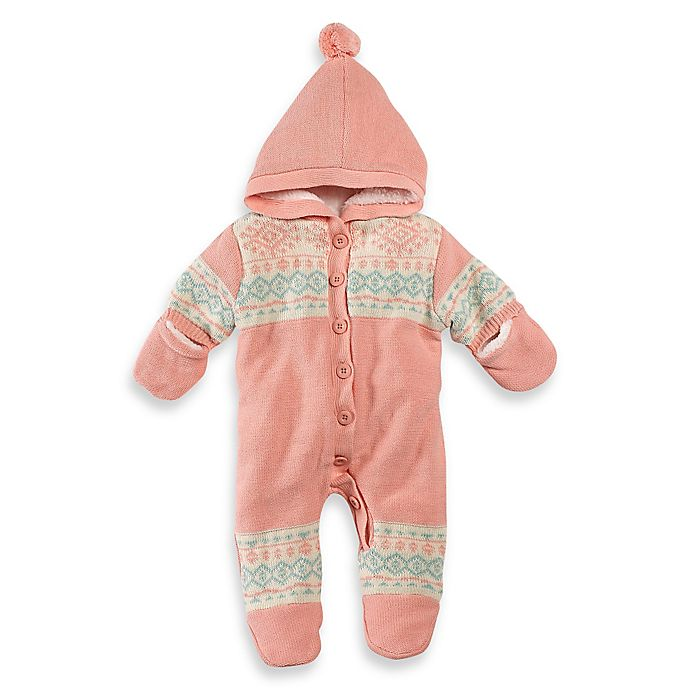 Jessica Simpson Hooded Sweater Pram In Pink Bed Bath Beyond