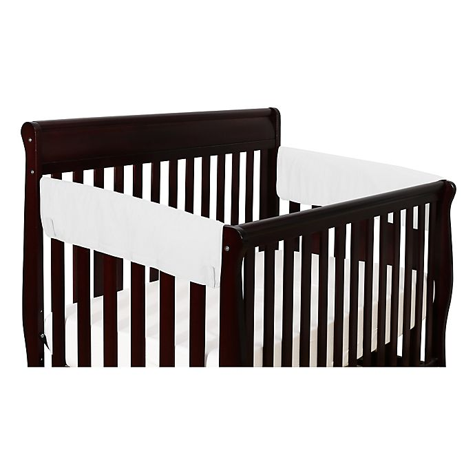 Alternate image 1 for The Peanutshell™ Solid Short Crib Rail Guard in White