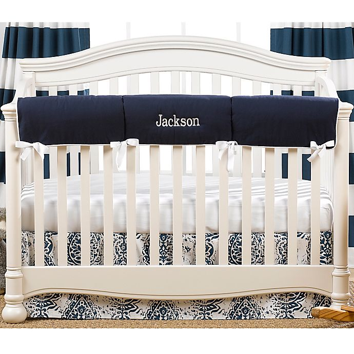 Alternate image 1 for Liz And Roo Crib Rail Guard in Navy/White