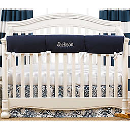 Liz And Roo Crib Rail Guard in Navy/White