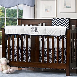 Liz And Roo Crib Rail Guard in White/Navy