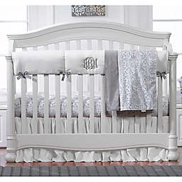 Liz And Roo Crib Rail Guard in White/Grey