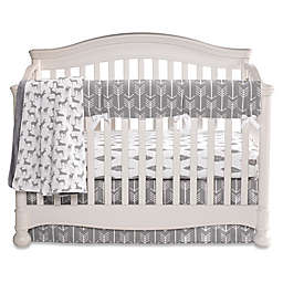 Liz and Roo Woodland Crib Rail Guard in Gray/White