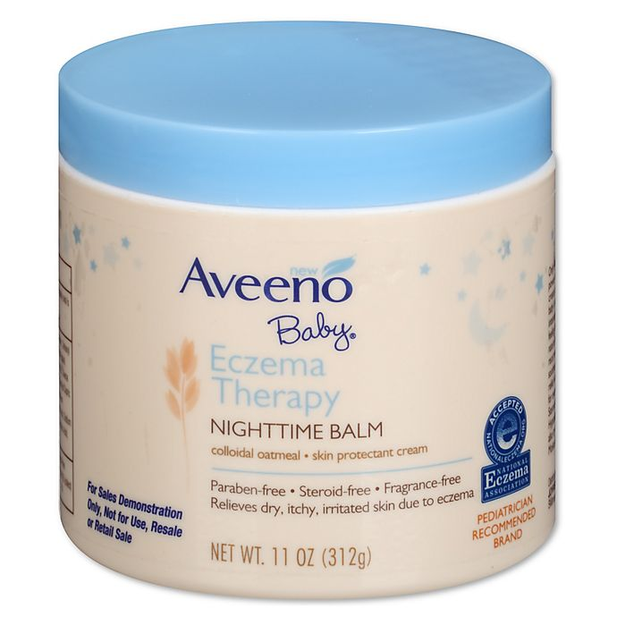 Alternate image 1 for Aveeno Baby® Eczema Therapy 11 oz. Nighttime Balm with Colloidal Oatmeal