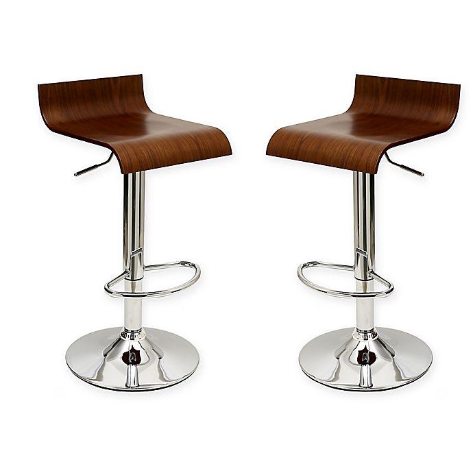 Buy Manhattan Comfort Ludlow Bar Stool In White Set Of 2
