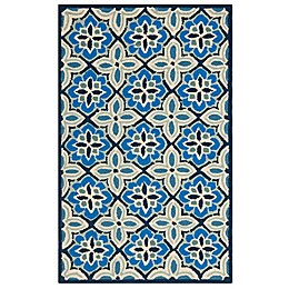 Safavieh Four Seasons Tangier Tile 2-Foot 6-Inch x 4-Foot Accent Rug in Blue