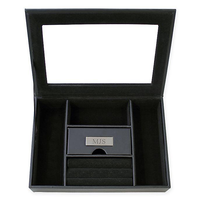 Alternate image 1 for Cathy's Concepts Men's Custom Valet Box in Black
