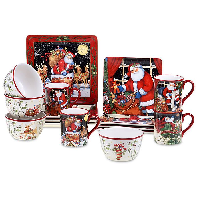 Certified International The Night Before Christmas Dinnerware | Bed Bath and Beyond Canada