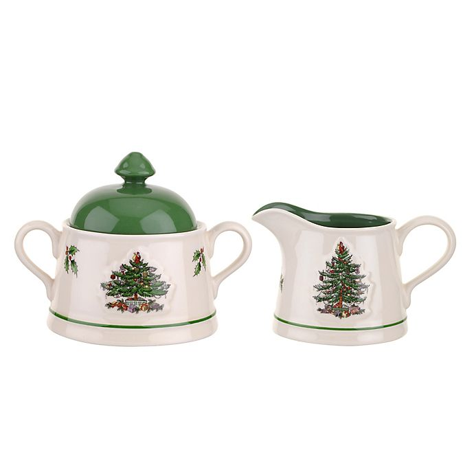 Spode Christmas Tree China Sale: Spode® Christmas Tree Embossed Sugar And Creamer