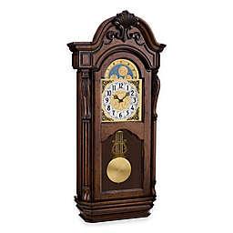 Bulova Tamlem Wall Clock in Brown Cherry