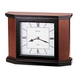 Bulova Holyoke Table Clock in Cherry
